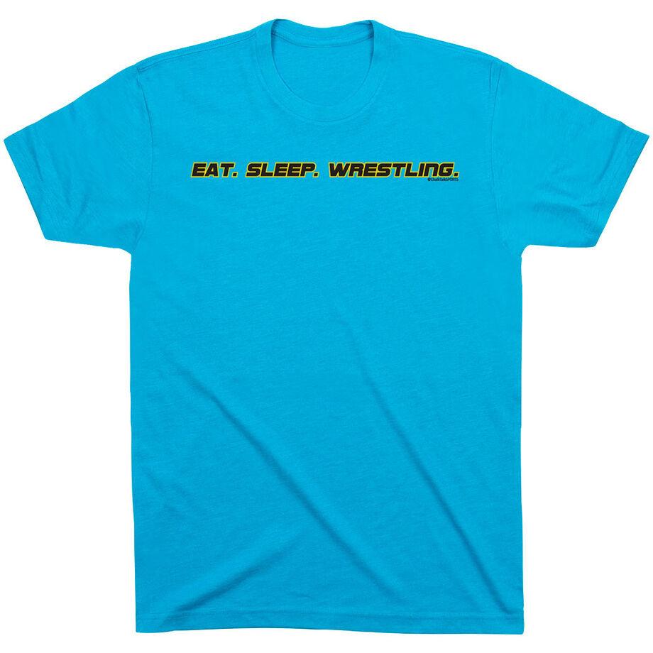 Wrestling Tshirt Short Sleeve Eat Sleep Wrestling
