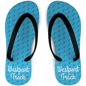 Track and Field Flip Flops Female Sprinter Pattern