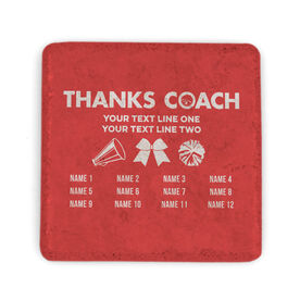 Cheerleading Stone Coaster - Thanks Coach Roster