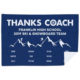 Skiing & Snowboarding Premium Blanket - Thanks Coach (Horizontal)