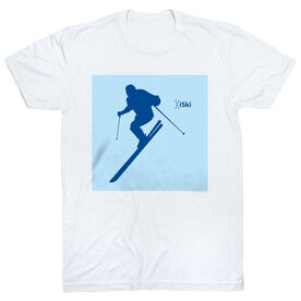 Skiing Tshirt Short Sleeve iSki