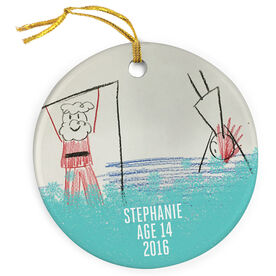 Gymnastics Porcelain Ornament Your Artwork Here Border