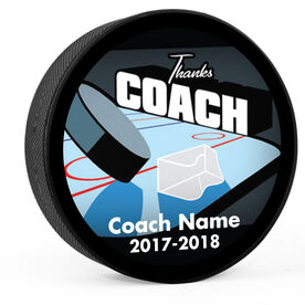 Personalized Ice Rink Thanks Coach Hockey Puck