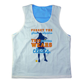 Girls Softball Racerback Pinnie Personalized Forget The Glass Slippers This Princess Wears Cleats