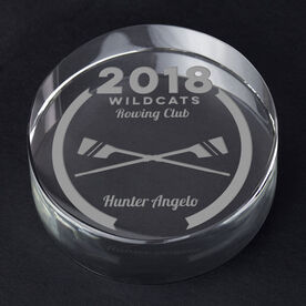 Crew Personalized Engraved Crystal Gift - Custom Team Award