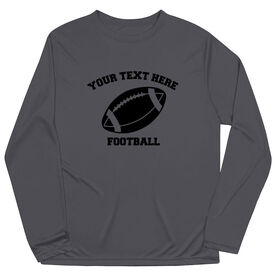Football Long Sleeve Performance Tee - Custom Football