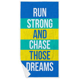 Running Premium Beach Towel - Run Strong