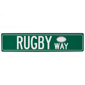 "Rugby Aluminum Room Sign - Rugby Way (4""x18"")"