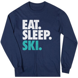 Skiing & Snowboarding T-Shirt Long Sleeve Eat. Sleep. Ski.