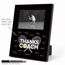 Tennis Photo Frame - Thanks Coach