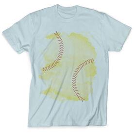 Vintage Softball T-Shirt - Stitches