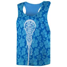 Girls Lacrosse Racerback Pinnie - Tropical Floral