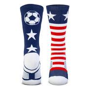 Soccer Woven Mid-Calf Socks - Patriotic
