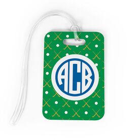 Field Hockey Bag/Luggage Tag - Personalized Field Hockey Pattern Monogram