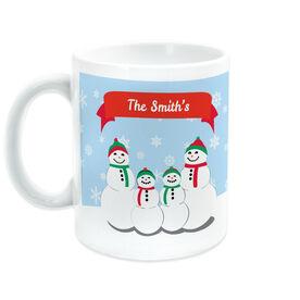 Personalized Coffee Mug - Custom Snowman Family of Four