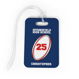 Rugby Bag/Luggage Tag - Personalized Rugby Team Ball