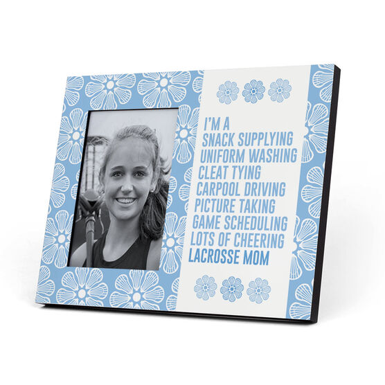 Girls Lacrosse Photo Frame - I'm A Lacrosse Mom With Pattern