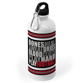Football 20 oz. Stainless Steel Water Bottle - Bones Saying
