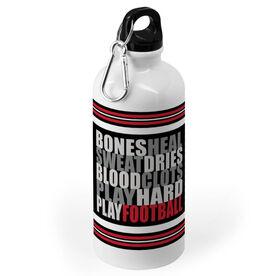 Football 20 oz. Stainless Steel Water Bottle - Bones Saying