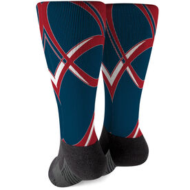 Rugby Printed Mid-Calf Socks - Superior
