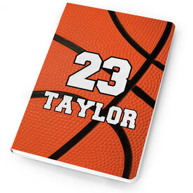 Basketball Notebook Personalized Big Number Basketball