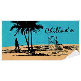 Girls Lacrosse Premium Beach Towel - Chillax'n