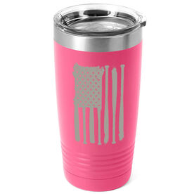 Softball 20 oz. Double Insulated Tumbler - Flag