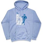 Guys Lacrosse Hooded Sweatshirt - My Goal Is To Deny Yours Defenseman