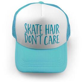 Figure Skating Trucker Hat - Skate Hair Don't Care