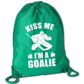 Hockey Sport Pack Cinch Sack Kiss Me I'm A Goalie