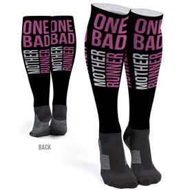 Running Printed Knee-High Socks - One Bad Mother Runner