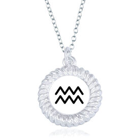 Braided Circle Necklace - I'm An Aquarius