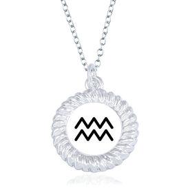 Braided Circle Necklace - I'm An Aquarius
