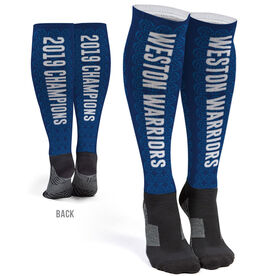 Volleyball Printed Knee-High Socks - Volleyball Team Name