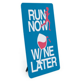 Running Desk Art - Run Now Wine Later