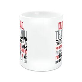 Guys Lacrosse Coffee Mug - Dear Dad