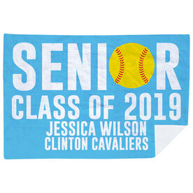 Softball Premium Blanket - Personalized Softball Senior Class Of