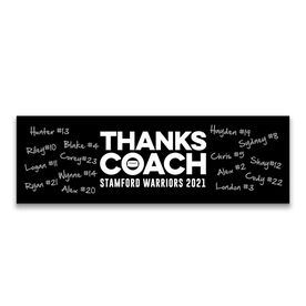 """Hockey 12.5"""" X 4"""" Removable Wall Tile - Thanks Coach (Autograph)"""