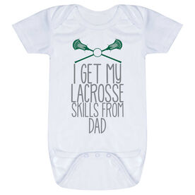 Guys Lacrosse Baby One-Piece - I Get My Skills From