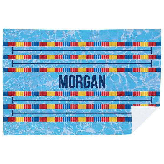 Swimming Premium Blanket - Personalized Swim Lanes