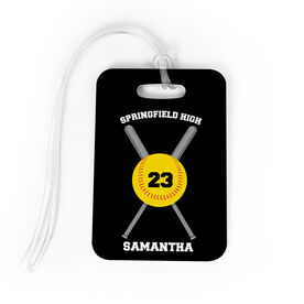 Softball Bag/Luggage Tag - Personalized Team Crossed Bats