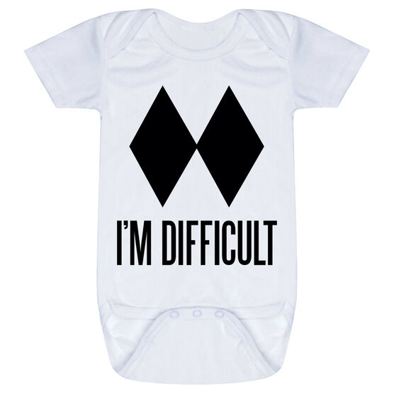 Skiing & Snowboarding Baby One-Piece - I'm Difficult