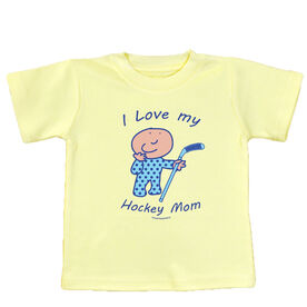 I Love My Hockey Mom Baby T-Shirt