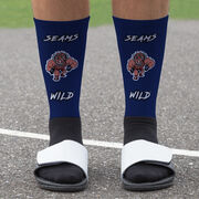 Seams Wild Wrestling Printed Mid-Calf Socks - Rollez