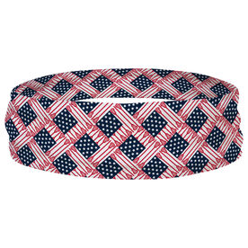 Lacrosse Multifunctional Headwear - Lacrosse Stick USA Flag RokBAND