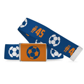 Soccer Lifestyle Belt Number Pattern