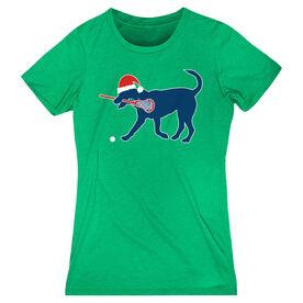Girls Lacrosse Women's Everyday Tee - Christmas Dog