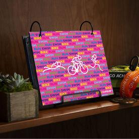 BibFOLIO® Race Bib Album - Swim Bike Run Repeat Girls
