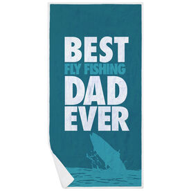 Fly Fishing Premium Beach Towel - Best Dad Ever