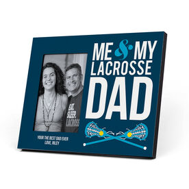 Girls Lacrosse Photo Frame - Me & My Lacrosse Dad